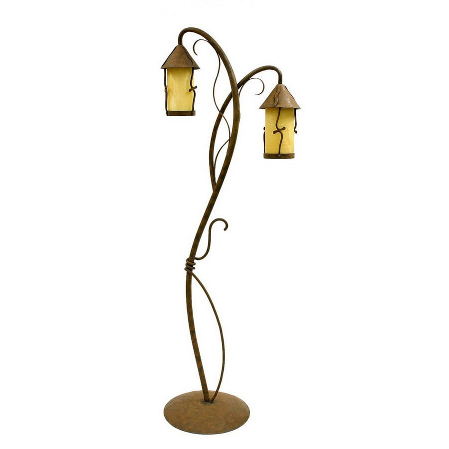 Creative Creations 66 In Rustic Wrought Iron Multi Head Indoor Floor Lamp With Shade