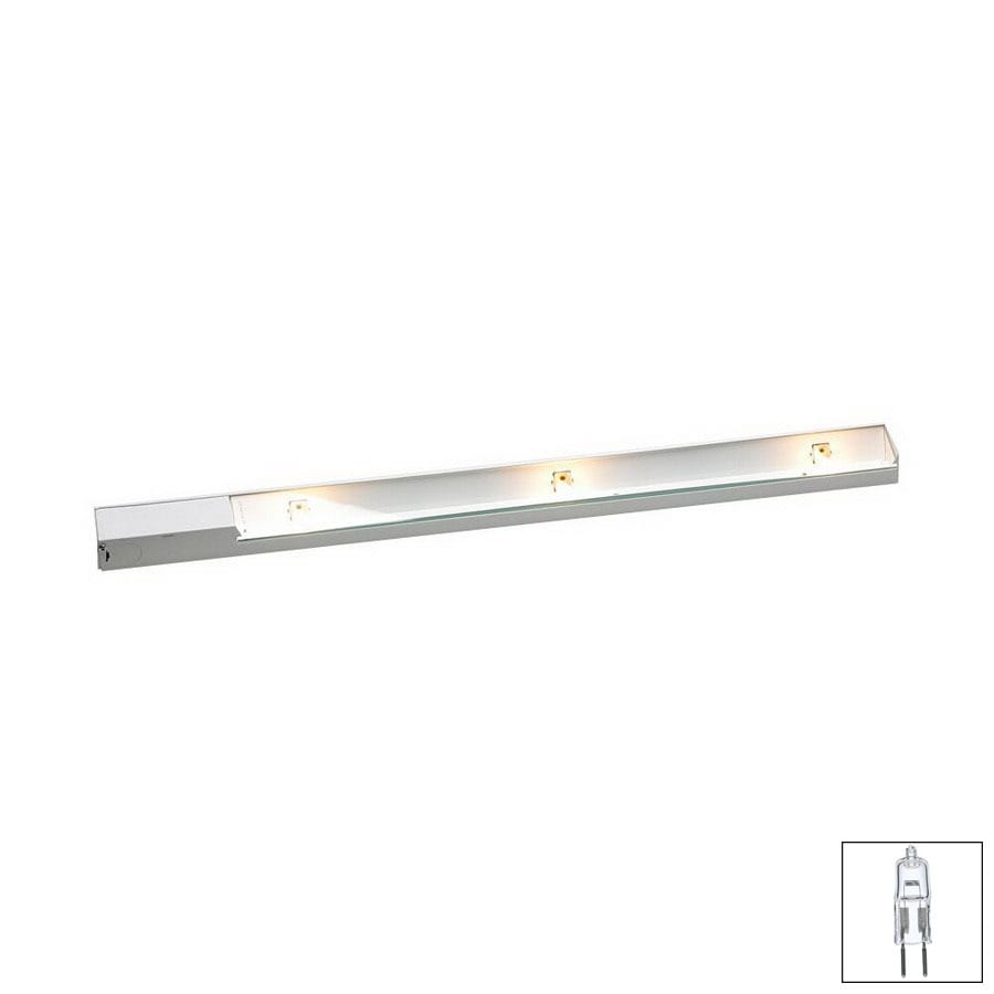 cabinet lighting lowes shop dals lighting 27 in hardwired cabinet halogen 12950