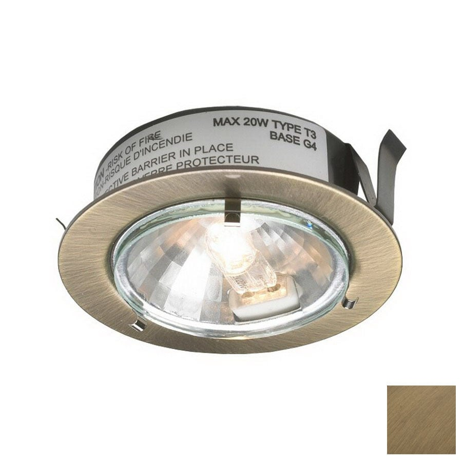 Captivating DALS Lighting 2.625 In Hardwired/Plug In Under Cabinet Halogen Puck Light