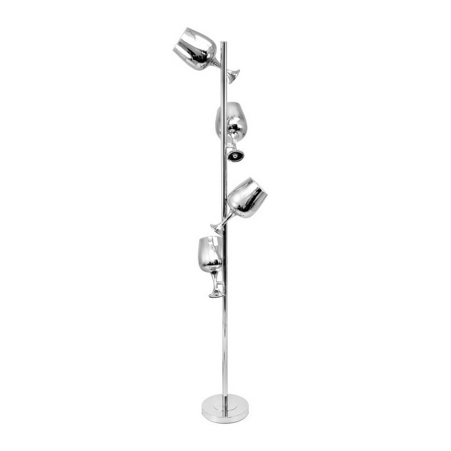 Lumisource 69 In Chrome Multi Head Indoor Floor Lamp With Shade At