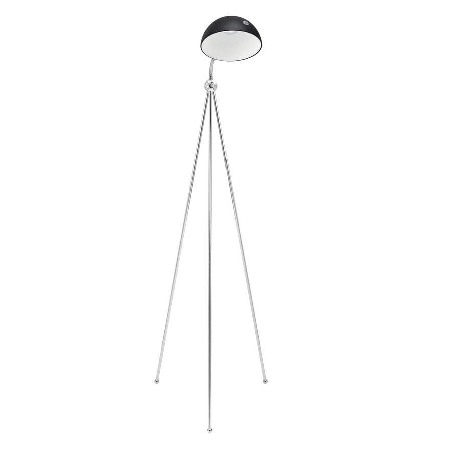 Lumisource Capello 53.5-in Chrome LED Tripod Indoor Floor Lamp with Metal Shade