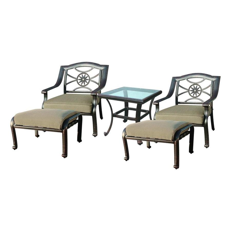 Darlee Ten Star 5-Piece Aluminum Patio Conversation Set