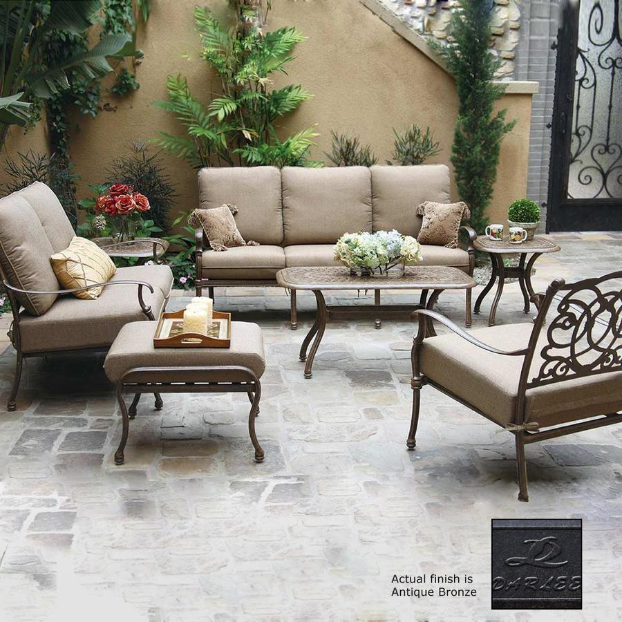 Metal Patio Conversation Sets Hton Bay Belcourt 5 Metal Outdoor Patio Pit Shop Darlee 3