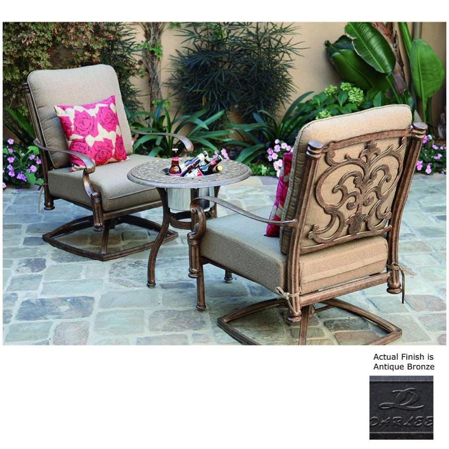 Darlee Santa Barbara 3-Piece Aluminum Patio Conversation Set