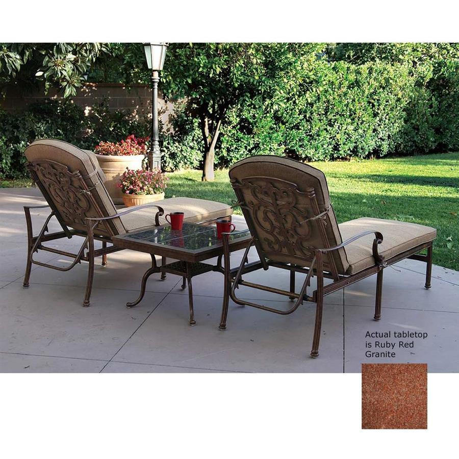 Shop darlee santa barbara 3 piece aluminum patio for Patio conversation sets