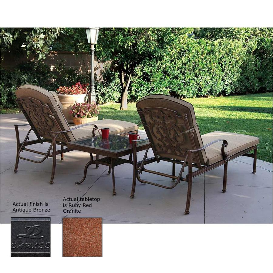 Darlee Santa Barbara 3 Piece Aluminum Patio Conversation Set