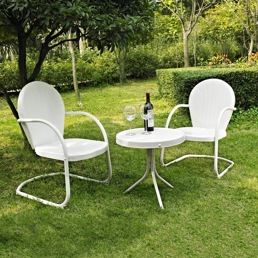 Crosley Furniture Griffith 3-Piece Steel Patio Conversation Set