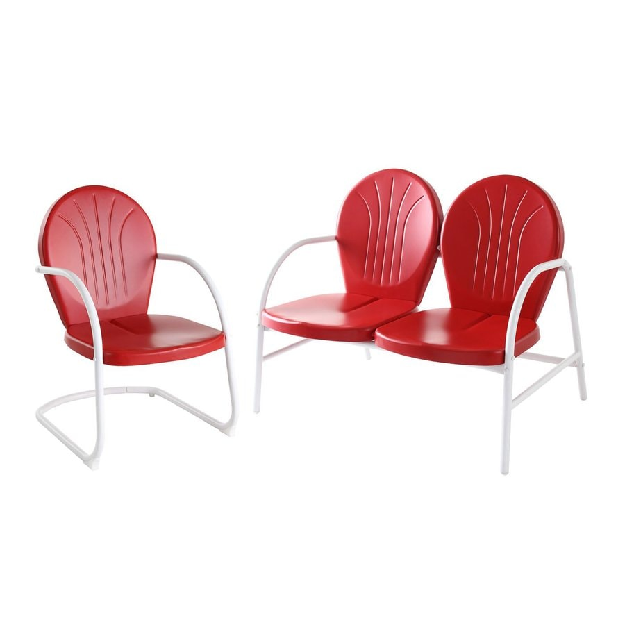 Crosley Furniture Griffith 2-Piece Steel Patio Conversation Set