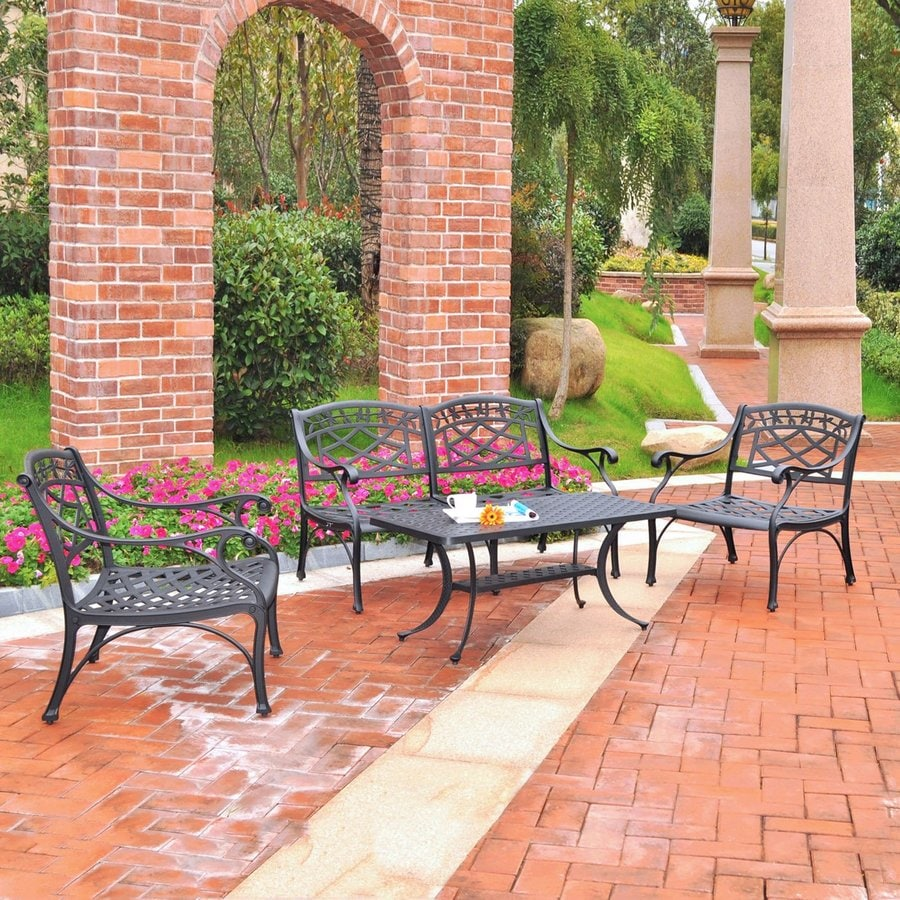 Crosley Furniture Sedona 4-Piece Aluminum Patio Conversation Set