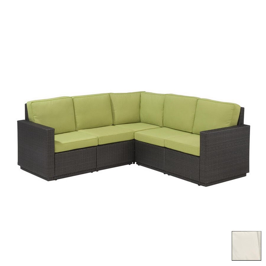 Home Styles Riviera Brown 5-Piece Sectional Sofa at Lowes.com