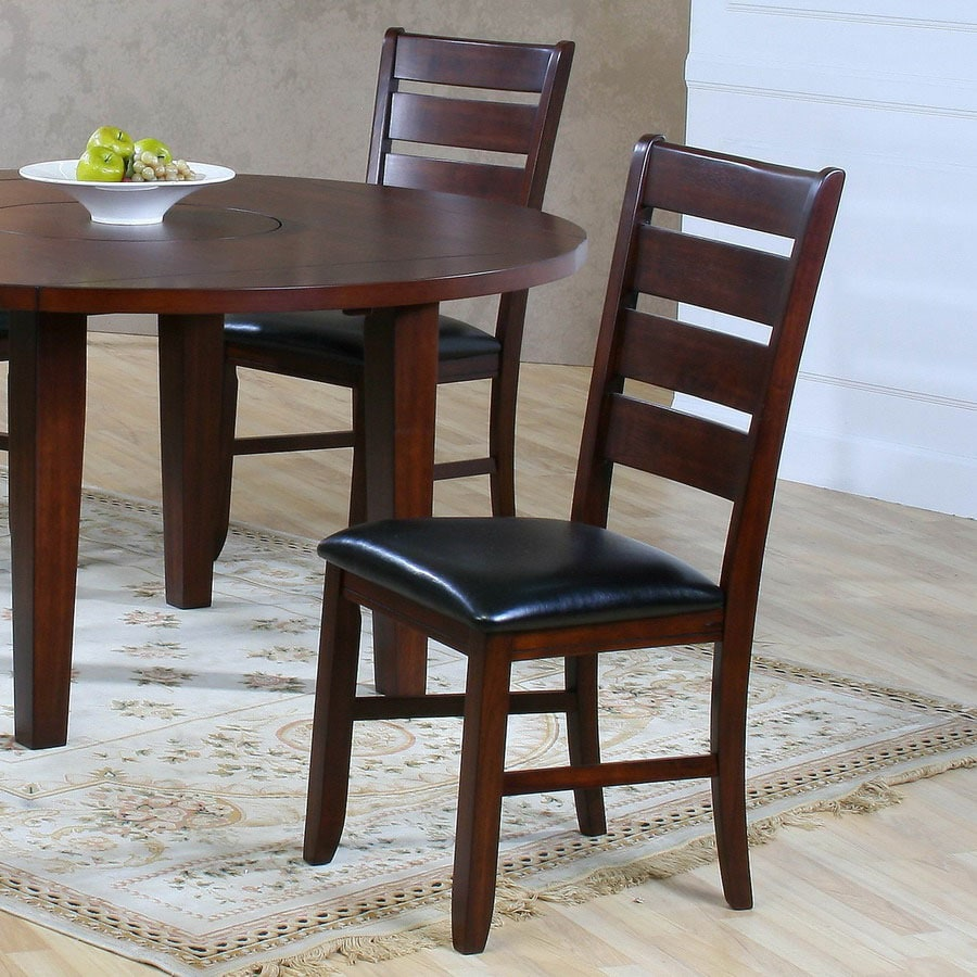 Homelegance Set of 2 Ameillia Dark Oak Side Chairs