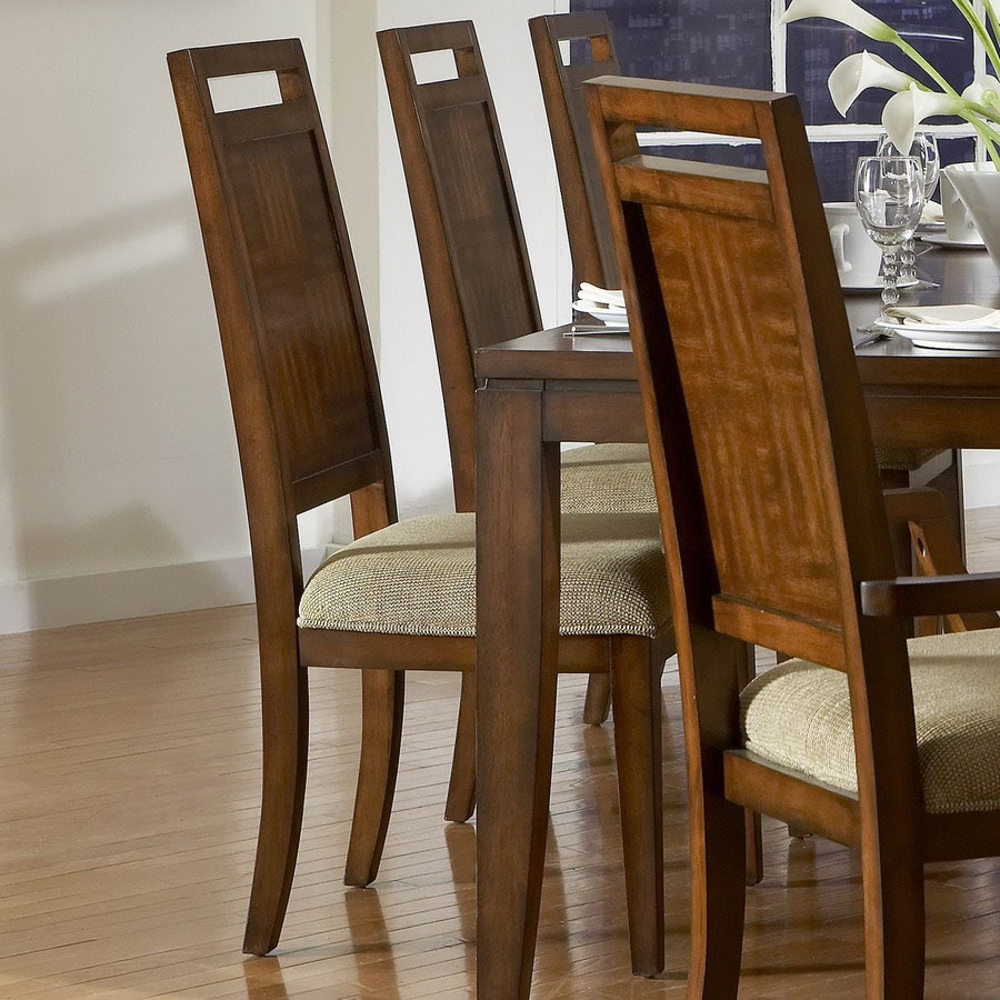 Homelegance Set of 2 Campton Tobacco Brown Side Chairs