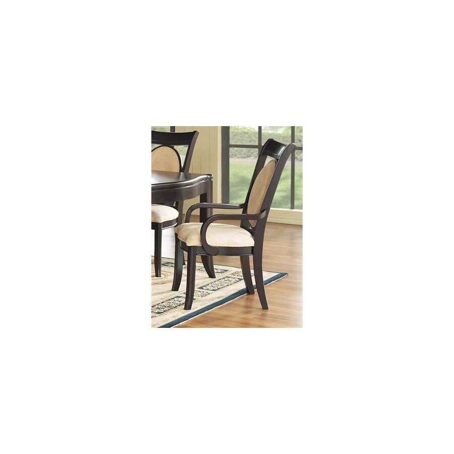 Somerton Home Furnishings Set of 2 Signature Dark Arm Chairs
