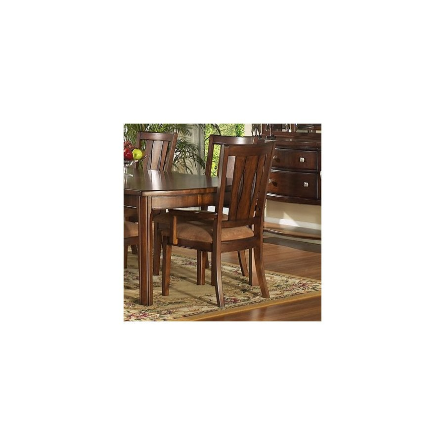 Somerton Home Furnishings Set of 2 Rhythm Medium Brown Walnut Arm Chairs