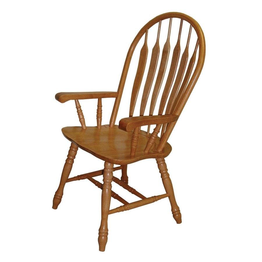 Sunset Trading Comfort Back Light Oak Arm Chair