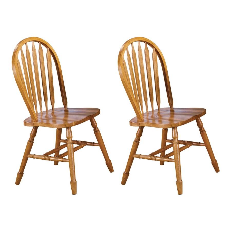 Sunset Trading Set of 2 Andrews Light Oak Side Chairs