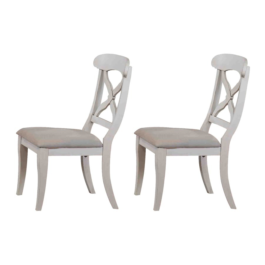 Sunset Trading Set of 2 Andrews Antique White Side Chairs