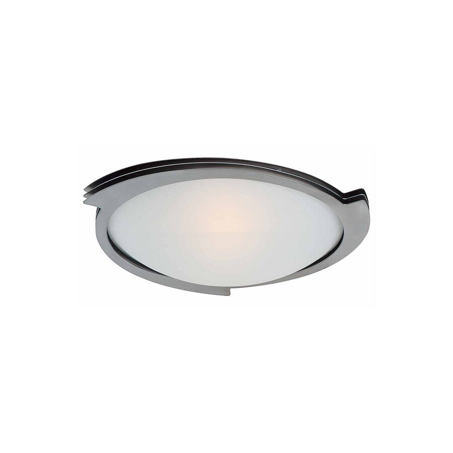 Access Lighting Triton 13.5-in W Brushed Steel Ceiling Flush Mount Light