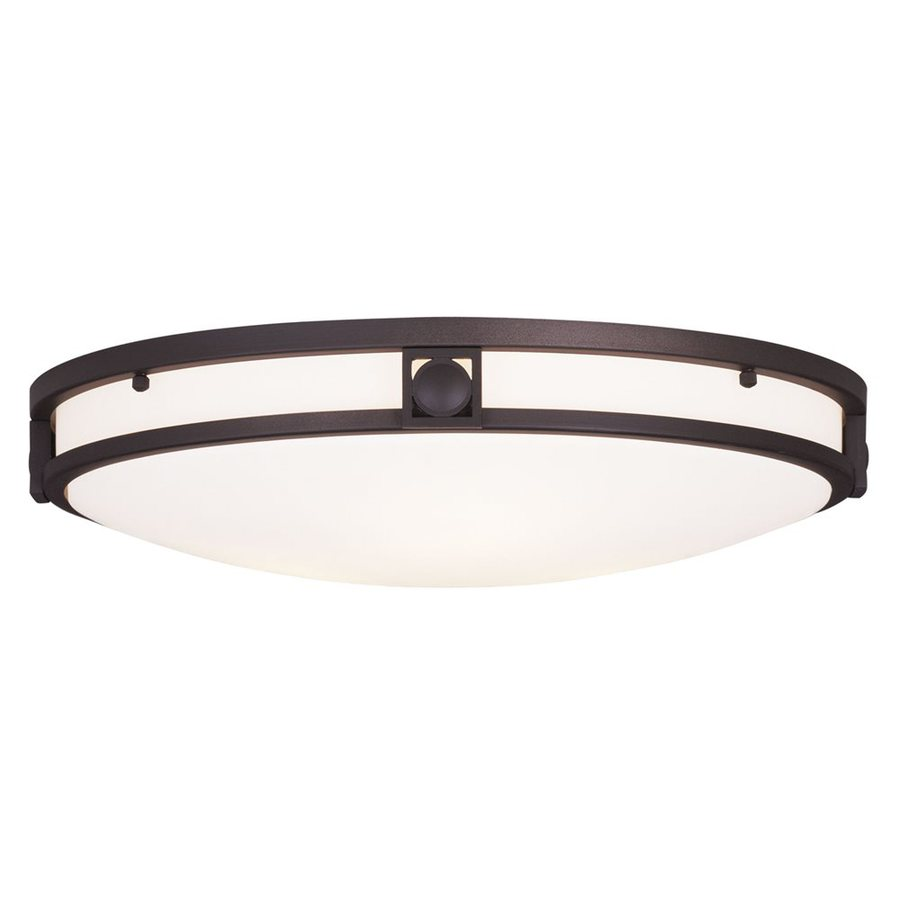 Livex Lighting Titania 16-in W Bronze Ceiling Flush Mount Light