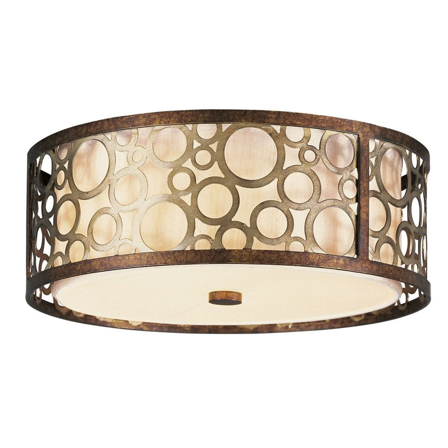 Livex Lighting Avalon 14-in W Palacial Bronze Ceiling Flush Mount Light