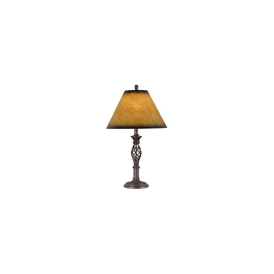 Cal Lighting 27-in 3-Way Switch Rust Indoor Table Lamp with Shade
