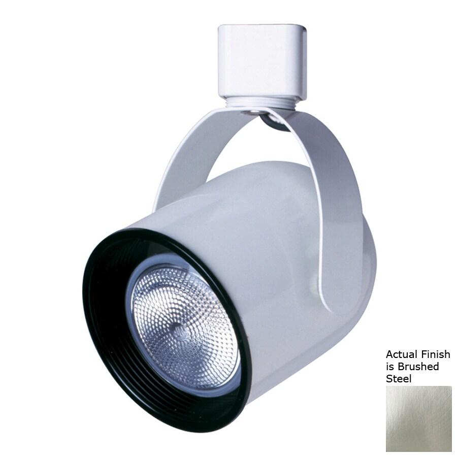 Cal Lighting 1-Light Brushed Steel Roundback Linear Track Lighting Head