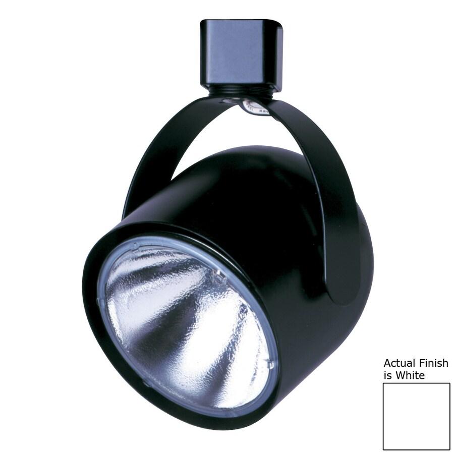 Cal Lighting 1-Light White Roundback Linear Track Lighting Head