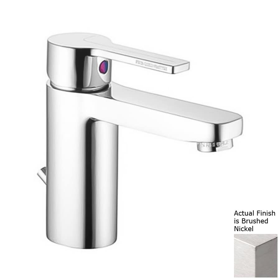 Nameeks Matrix Brushed Nickel 1-Handle Single Hole Bathroom Faucet (Drain Included)