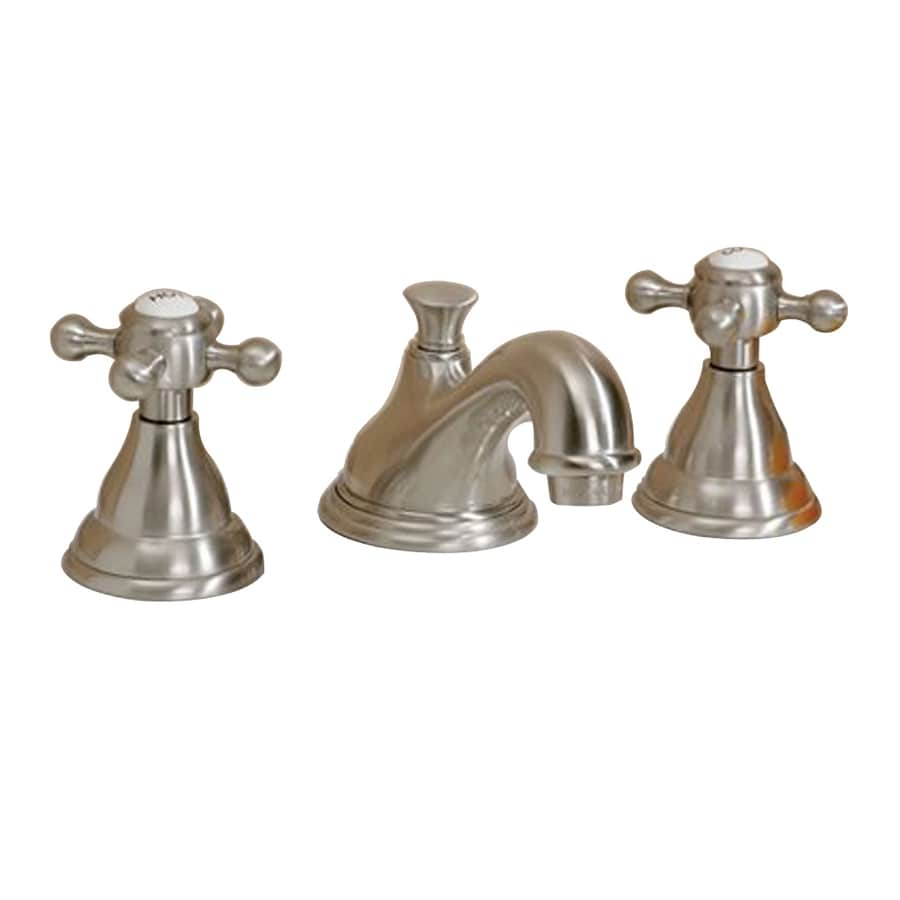 Shop cheviot brushed nickel 2 handle widespread bathroom for 8 bathroom faucet in brushed nickel