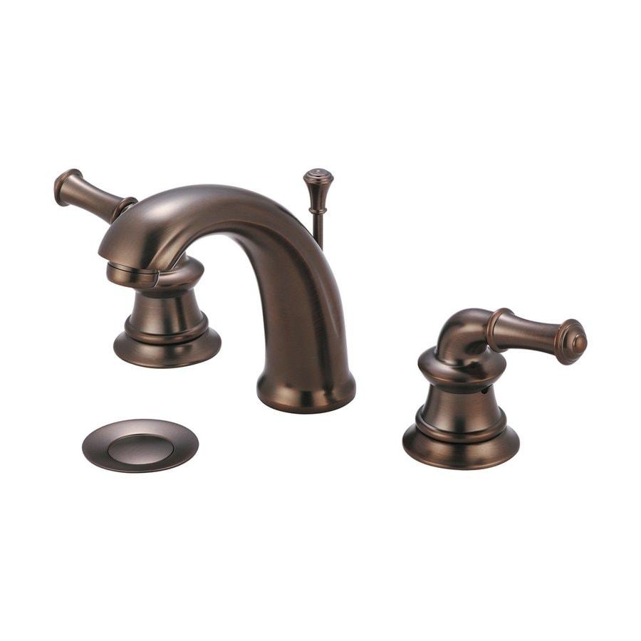 Pioneer Industries Del Mar Oil Rubbed Bronze 2-Handle Widespread Bathroom Faucet (Drain Included)