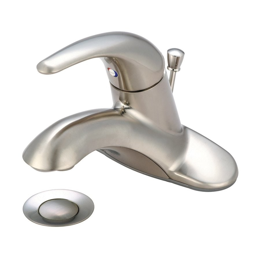 Pioneer Industries Legacy Brushed Nickel 1-Handle 4-in Centerset Bathroom Sink Faucet