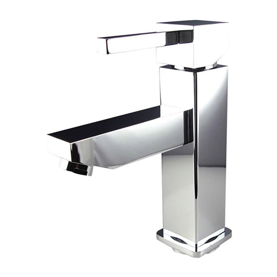 Fresca Bevera Chrome 1-Handle Single Hole Bathroom Faucet