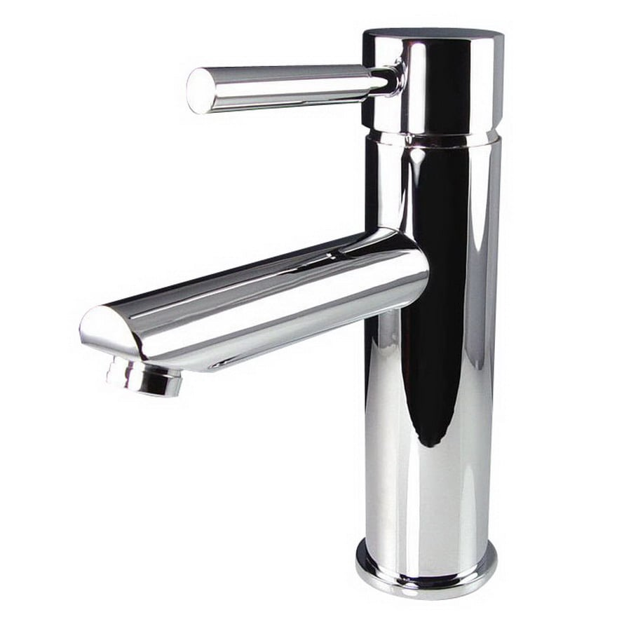 Shop Fresca Tartaro Chrome 1-Handle Single Hole Bathroom Faucet at ...