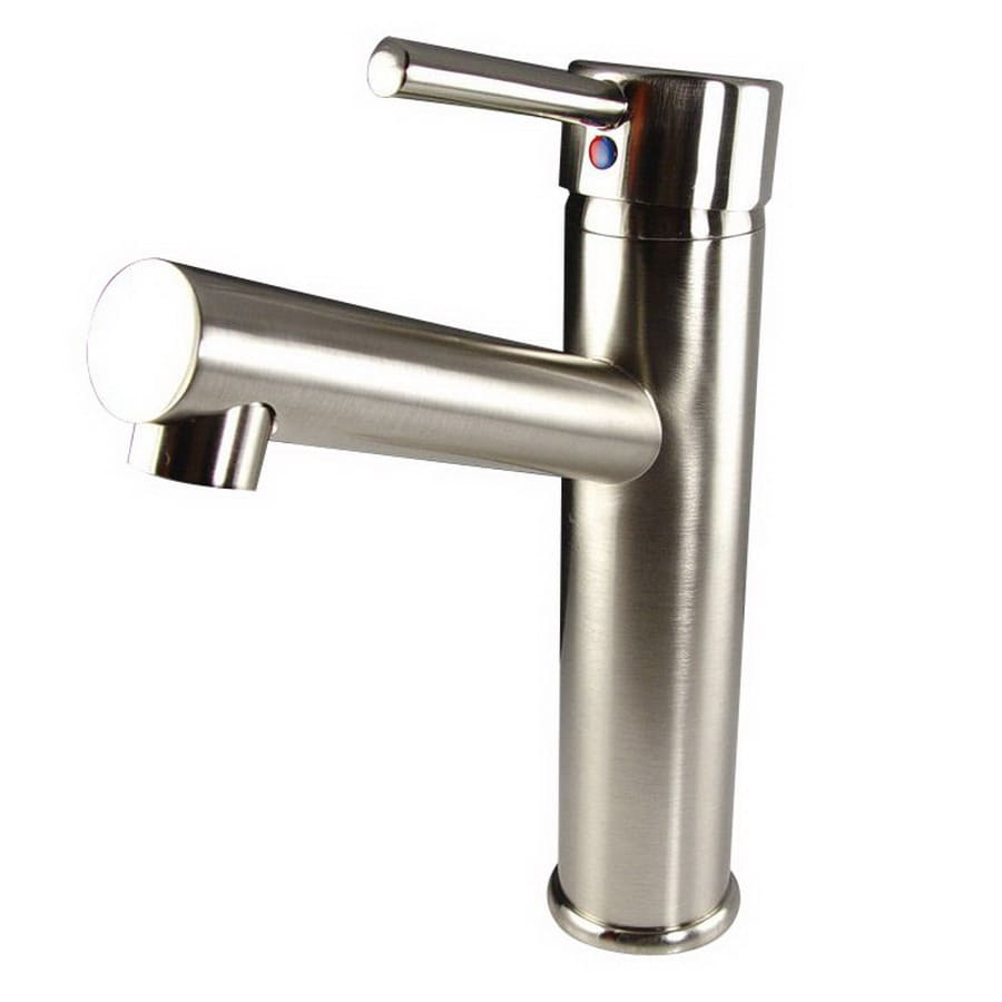 savio brushed nickel 1 handle single hole bathroom faucet at