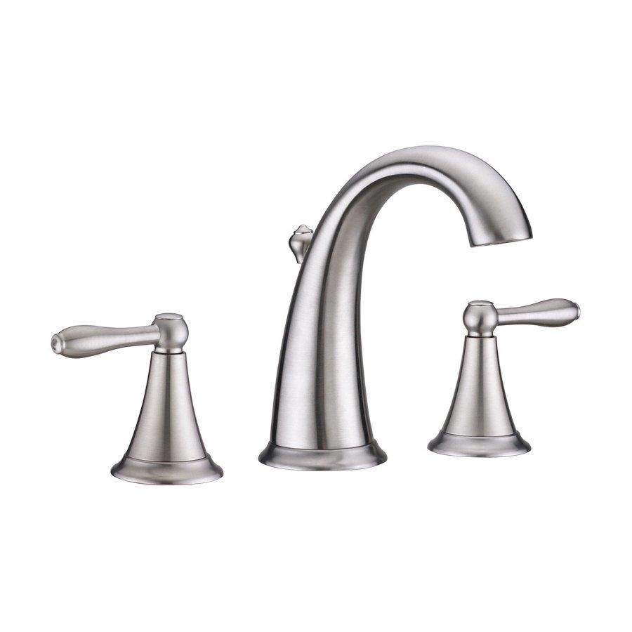 Virtu USA Alexis Brushed Nickel 2-Handle Widespread WaterSense Bathroom Faucet