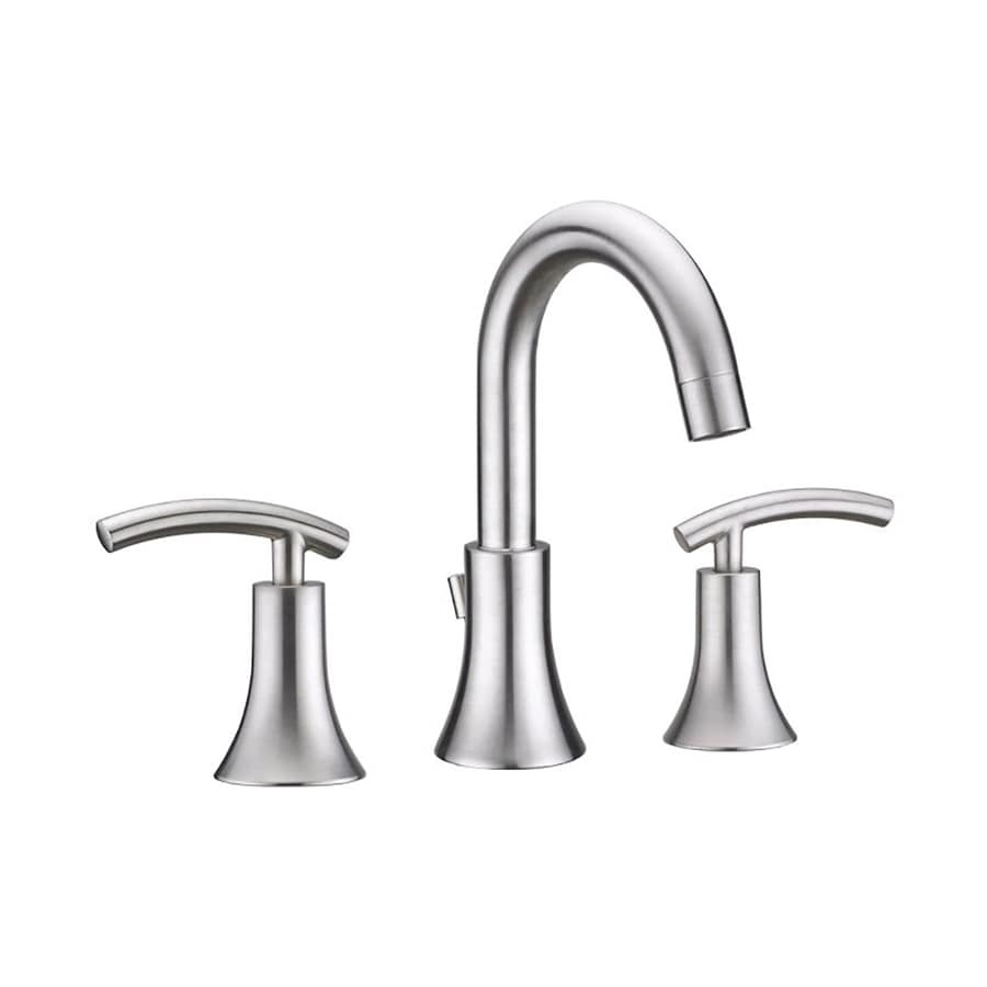 Virtu USA Athen Brushed Nickel 2-Handle Widespread WaterSense Bathroom Faucet