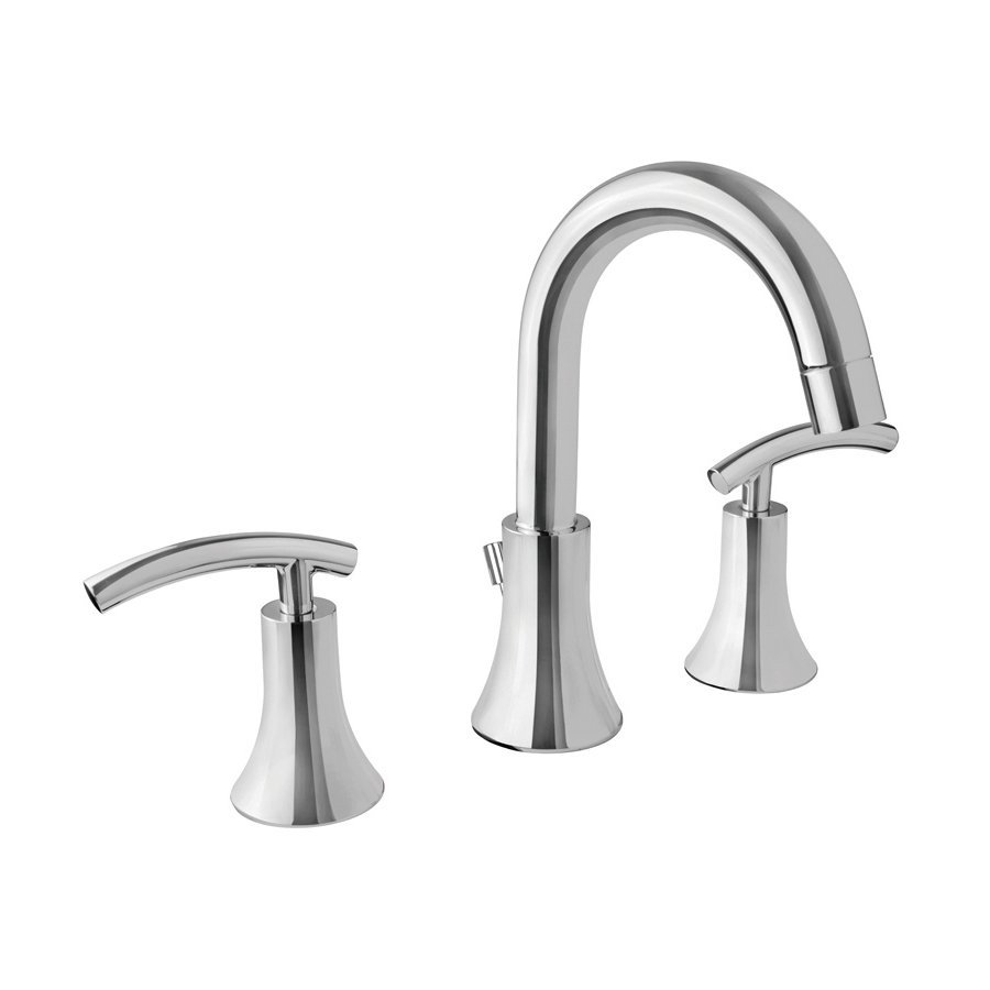 Virtu USA Athen Polished Chrome 2-Handle Widespread WaterSense Bathroom Faucet