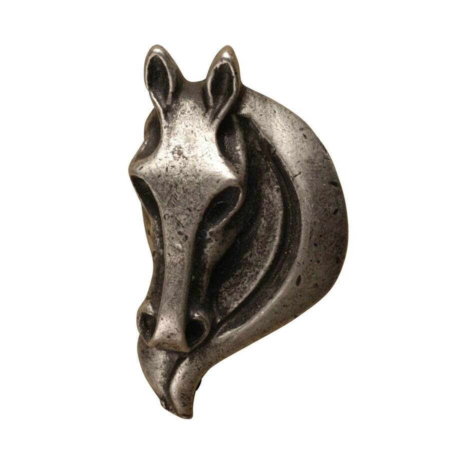 Anne at Home Horses Matte Pewter Novelty Cabinet Knob
