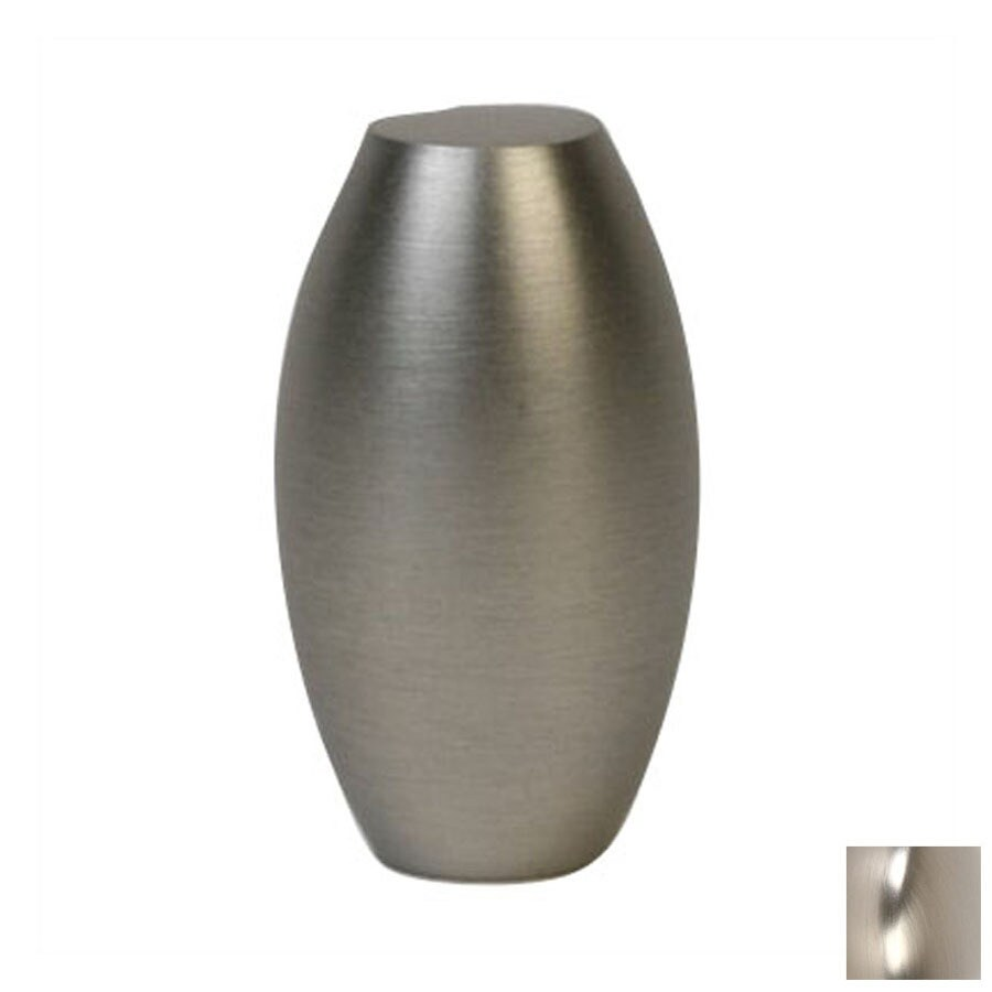 Lew's Hardware 5/8-in Brushed Nickel Barrel Series Oval Cabinet Knob