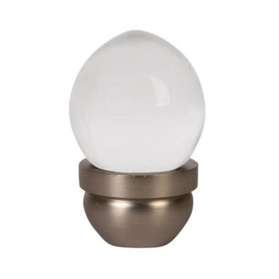 Lew's Hardware 1-in Brushed Nickel Acorn Glass Series Globe Cabinet Knob