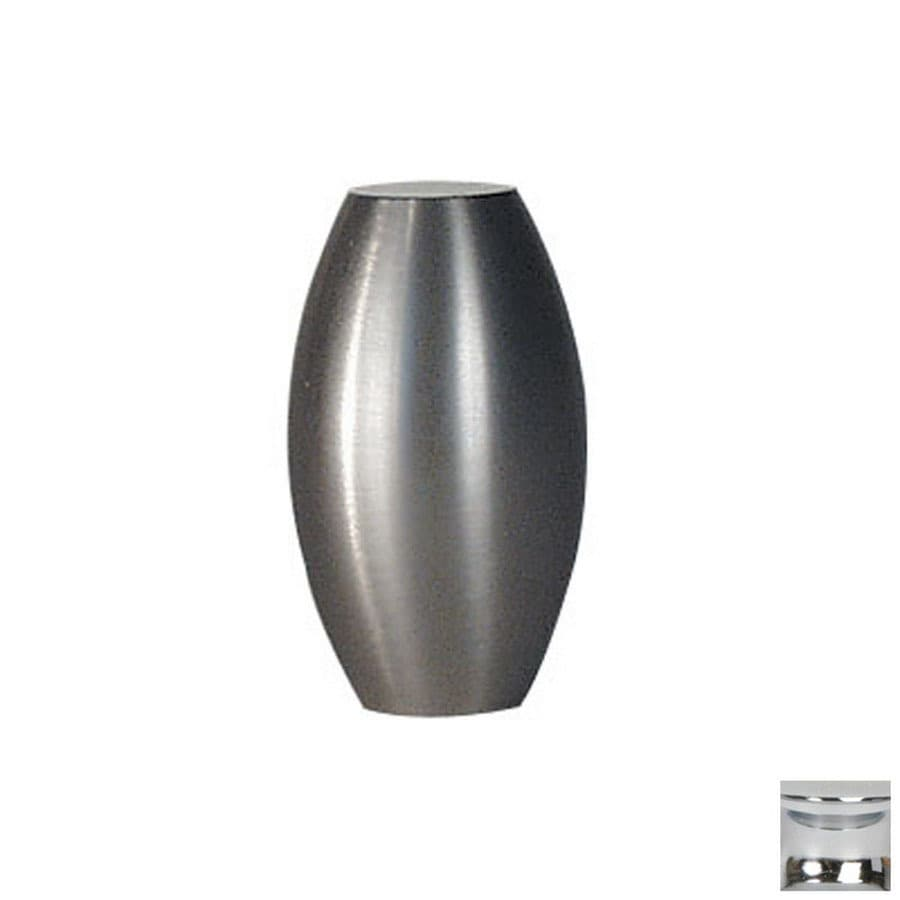 Lew's Hardware 5/8-in Polished Chrome Barrel Series Oval Cabinet Knob