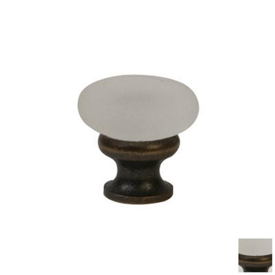 Lew's Hardware Mushroom Glass Oil-Rubbed Bronze Round Cabinet Knob
