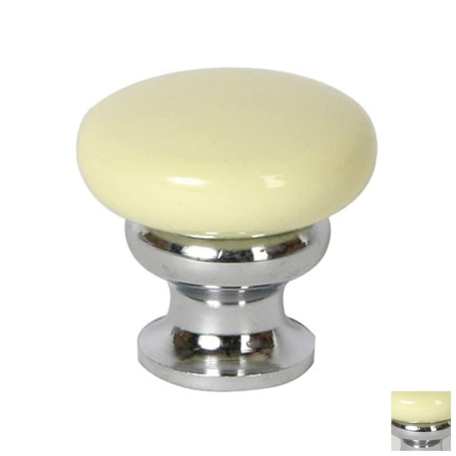 Lew's Hardware 1-1/4-in Polished Chrome Metal Mushroom Cabinet Knob