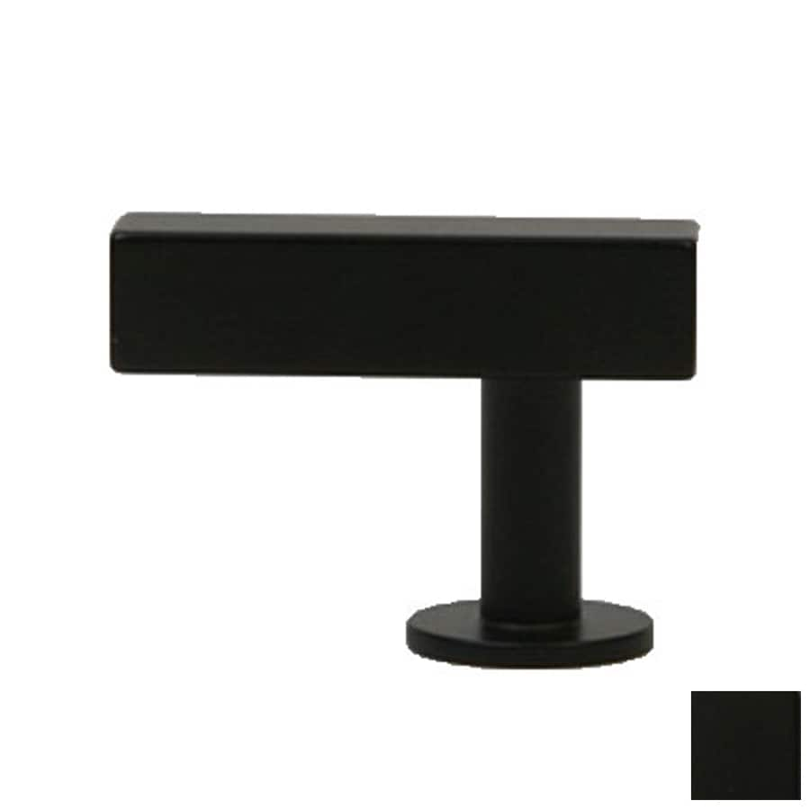 black kitchen knobs farmhouse lews hardware bar matte black rectangular cabinet knob at lowescom