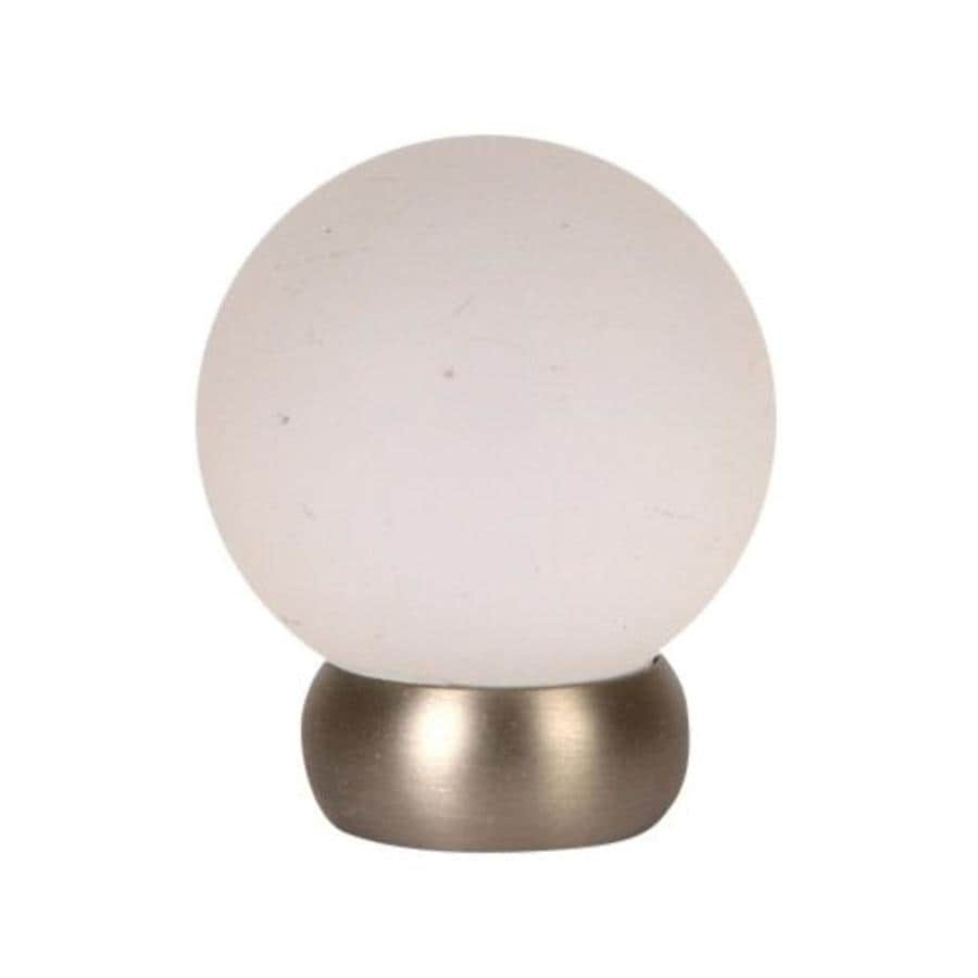 Lew's Hardware 1-1/8-in Brushed Nickel Glass Ball Series Globe Cabinet Knob