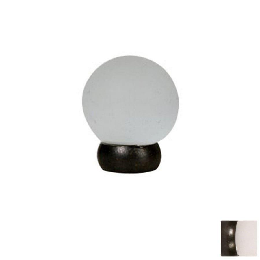 Lew's Hardware 1-1/8-in Oil-Rubbed Bronze Glass Ball Series Globe Cabinet Knob