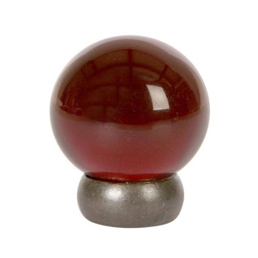 Lew's Hardware 1-1/8-in Oil-Rubbed Bronze Glass Ball Series Globe Cabinet Knob