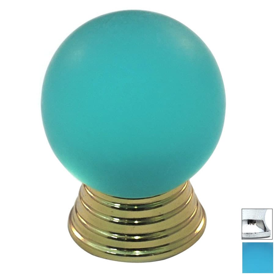 Cal Crystal Polished Chrome Athens Globe Cabinet Knob
