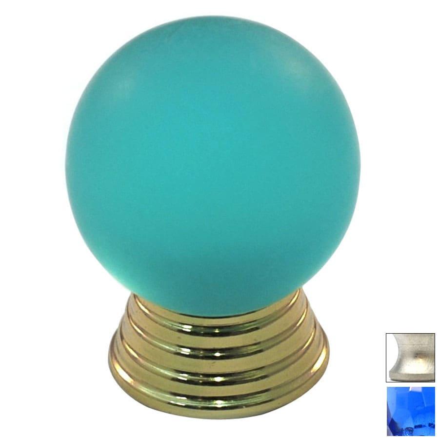 Cal Crystal Satin Nickel Athens Globe Cabinet Knob