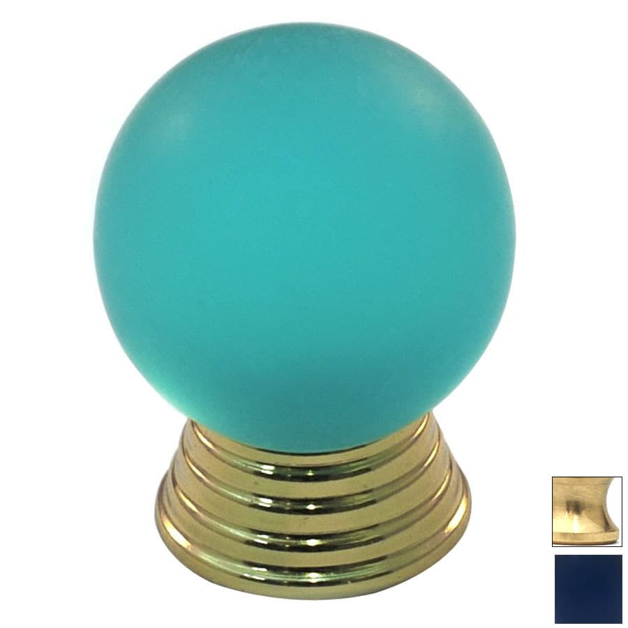 Cal Crystal Polished Brass Athens Globe Cabinet Knob